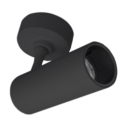 Cylindrical surface mounted spotlight