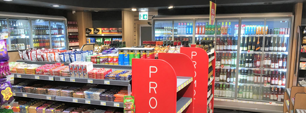 Elistown leicester post office store lighting by RICOMAN