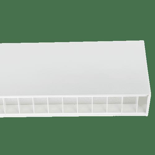 Office Linear Lighting - Estrella Pro White Louvre